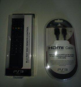 Пульт ДУ и кабель HDMI оригинал для Sony PS3