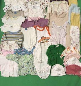 Вещи пакетом для девочки от 0 до 6 месяцев