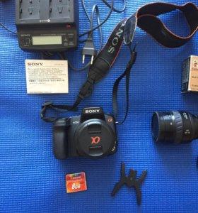 Зеркальный фотоаппарат Sony Alfa 350