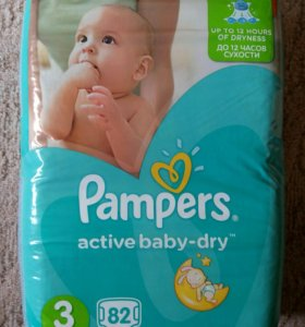 Подгузники Pampers active baby dry 3