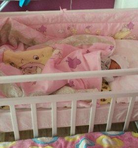 Детская кроватка, матрас