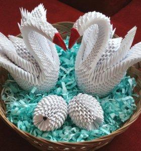 Лебеди. Оригами. Подарок