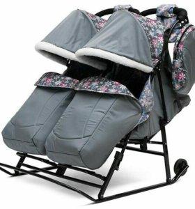 Сани-коляска для двойни