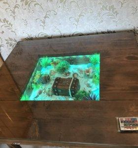 Стол из массива сосны старинный