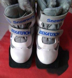 Лыжные ботинки на липучках