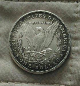 Монета 1 доллар США 1888 г