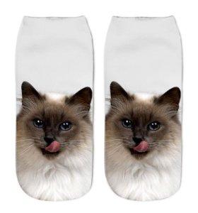 Хлопковые носки с 3-д рисунком.
