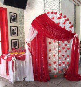 Оформление свадьбы текстилем