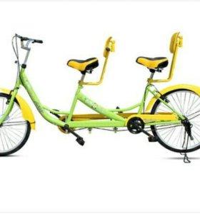 Велосипед двухместный прогулочный