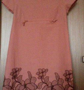 Платье новое лето льняное 46рр 1200 руб