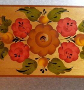 Деревянная шкатулка 80х годов
