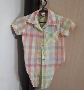 Рубашка-топ на 3-4года