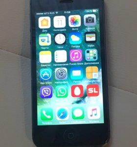 iPhone 5, айфон чёрный, 16 gb