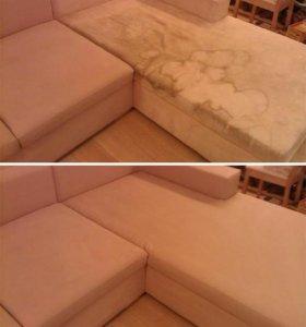 Химчистка диванов, ковров, мебели, матрасов и окон