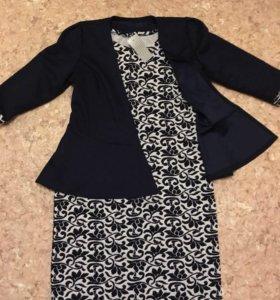 Платье с пиджаком размер 50 новое