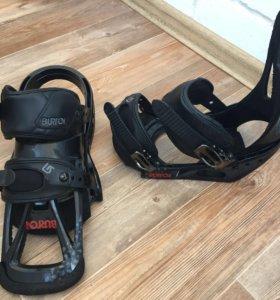 Крепления для сноуборда Burton freestyle