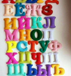 Детский алфавит из фетра