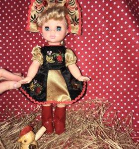 Кукла Эля хохломская красавица с сюрпризиком