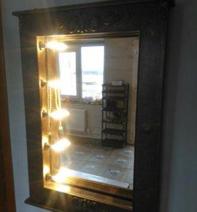 Зеркало декоративное с подсветкой