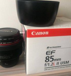 Canon EF 85mm f/1.2L II USM.