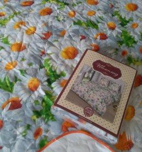 Комплект постельного белья и покрывало