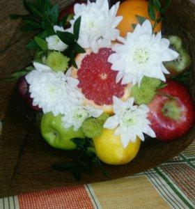 Букеты из овощей и фруктов