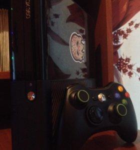 Xbox 360E 500gb + 4 игры