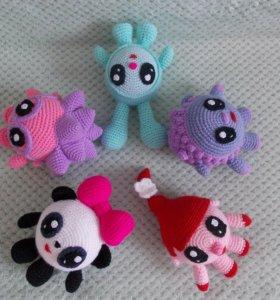 Вязанные игрушки малышарики