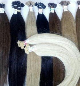 Волосы на капсулах для наращивания