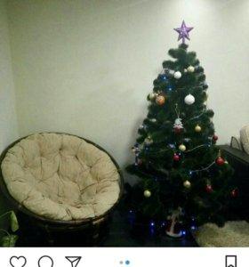 Кресло плетенное