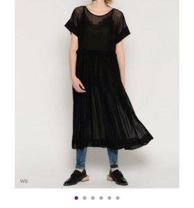 Платье с сетчатой фактурой