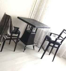 Продам стол и два барных стула!