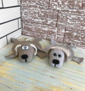 Вязанная подставка/игрушка «собачка 🐶»