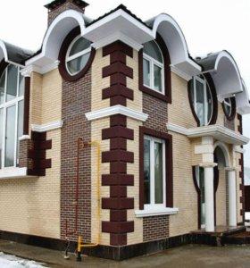 Элементы декора зданий из пенополистирола