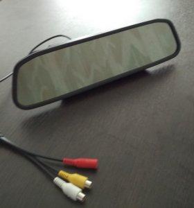 зеркало заднего вида с монитором для видео камеры