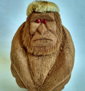 Статуэтка обезьяна кокос индия *для хендмейд