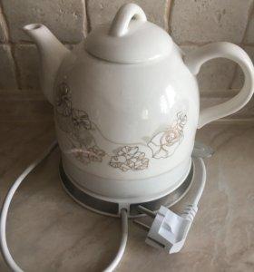 Чайник керамический электрический б/у