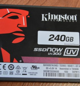"Жесткий диск SSD 2.5"" Kingston SSDnow UV300 240 Gb"