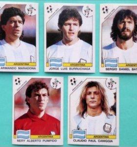 Наклейки Panini Чемпионат Мира 1990 Игроки Футбол
