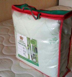 Новое двуспальное одеяло, бамбук