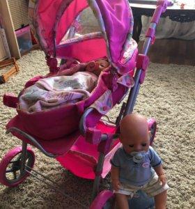 Baby Born с коляской