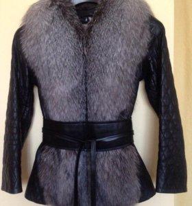 Меховой жилет, кожаная куртка-трансформер с мехом