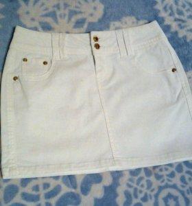 Юбка белая размер XXS
