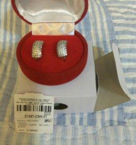 Новые серебряные серьги