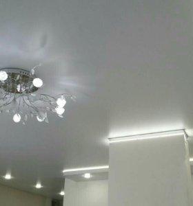 Натяжные, резные потолки
