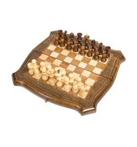 Шахматы + Нарды резные Ohanyan