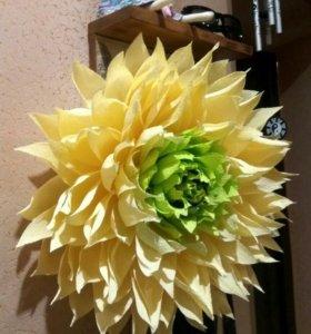 Цветы из бумаги, хризантема