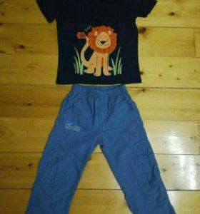Штаны+футболка детские