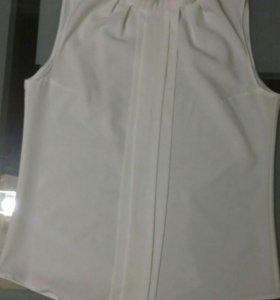 Топ блуза без рукавов белая ANGELINA обмен