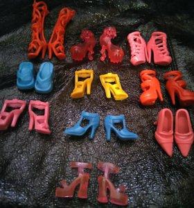 Обувь для куклы 10 пар
